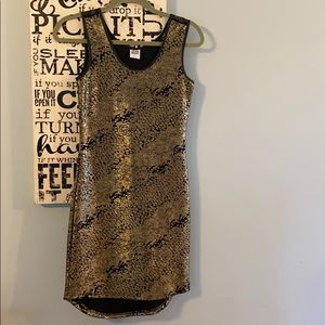 Vera Moda Gold Shimmer Holiday Dress